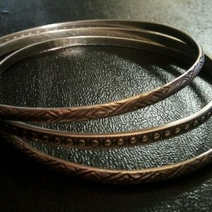 Sterling .925 3pc bangles